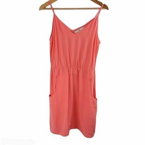 Amanda Uprichard Peach Silk sleeves dress